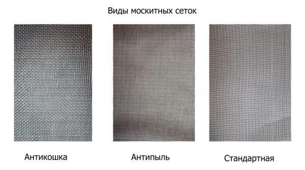 виды москитных сеток для дверей