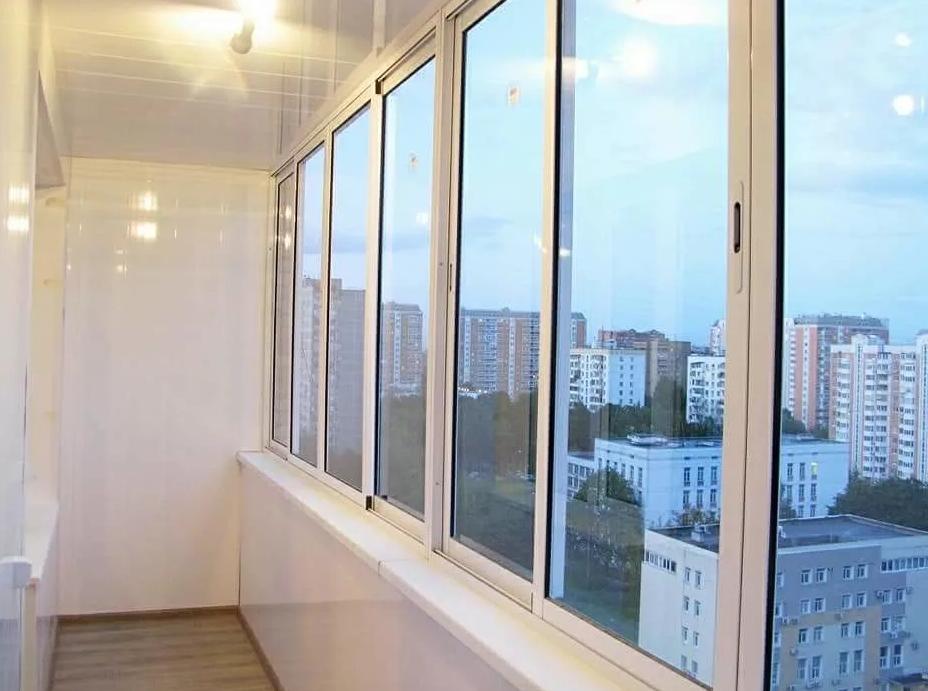 холодное остекление балкона, фото
