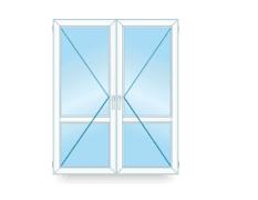Двустворчатое французское окно фото