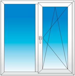 окно двухстворчатое фото