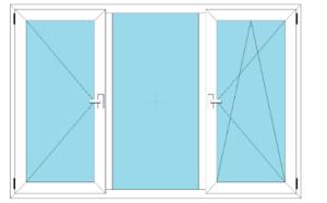 окно трехстворчатое 1 глухое фото